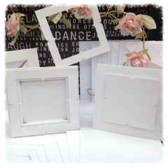 tent card recessed & frame additions