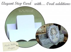 elegant step card with oval additions