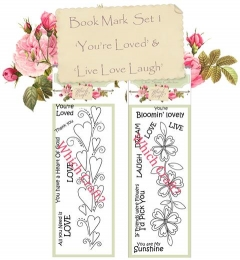 which craft? book mark size stamps set of 2 - you�re loved & live, laugh, love