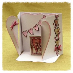 heart gatefold card white 'pick n mix'
