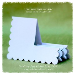scallop concertina step card