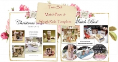 match boxes and sleigh ride template set