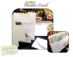 scallop shutter card & dl box envelope template/sections