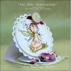 baby handbag card - white