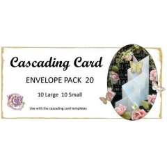 cascading card template envelopes