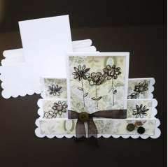 double concertina step card top up pack