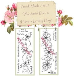 which craft? book mark size stamps set of 2 - wonderful day & have a lovely day