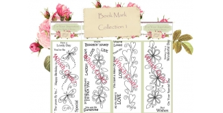 Which Craft? Book Mark Size Stamp Set of 4- 'You're Loved', 'Live, Laugh, Love', 'Wonderful Day' and 'Have a Lovely Day'